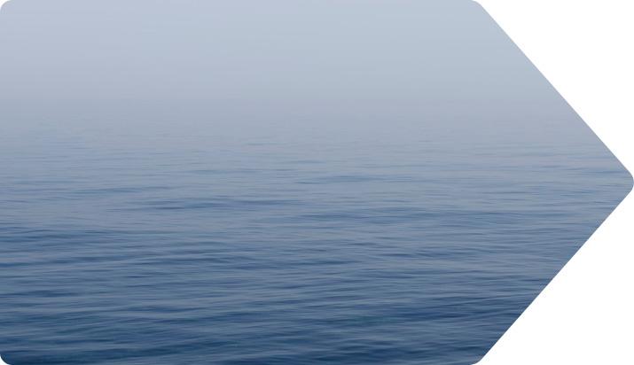 calm ocean arrow